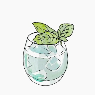 Gin and Basil Smash cocktail